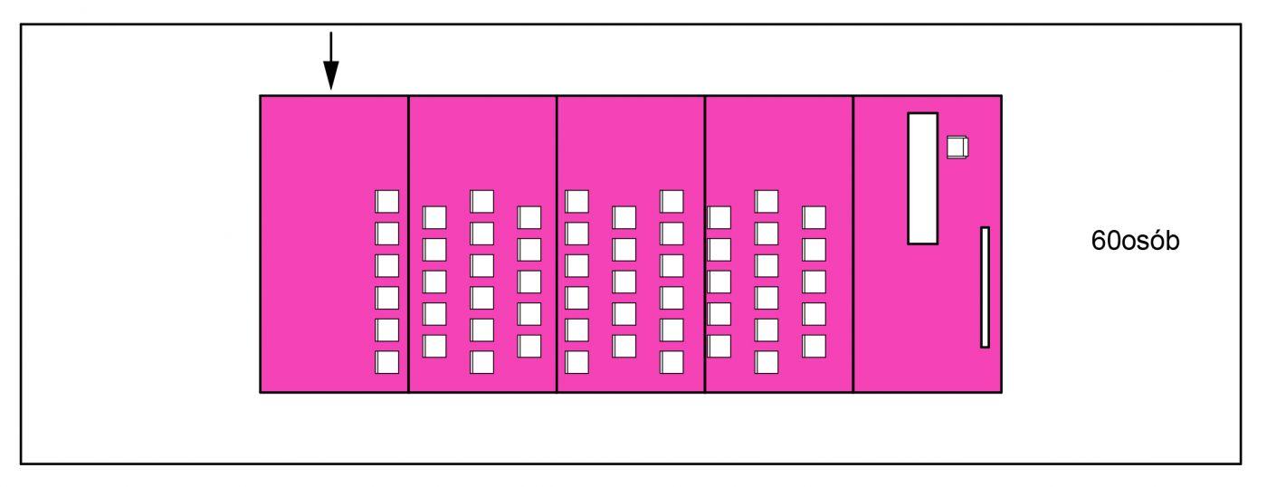 schemat / przykładowa konferencja na 60 osób